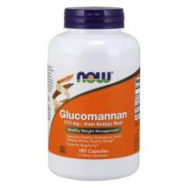 glucomannan 575 mg NOW foods van konjac wortel