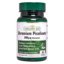 Natures Aid Chromium Picolinate 200ug elemental