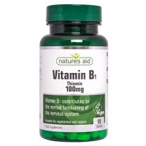 Natures Aid Vitamine B1 Thiamine 100mg