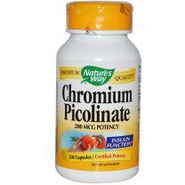 Natures Way Chromium Picolinate 200mcg