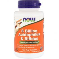 NOW Foods 8 Billion Acidophilus Bifidus Probiotica