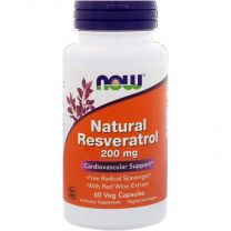 natural resveratrol 200 mg now foods